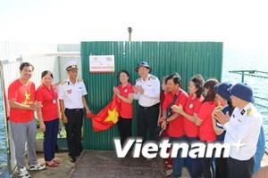 """Hội Chữ thập Đỏ và Hải quân khánh thành """"Vườn rau Trường Sa"""""""