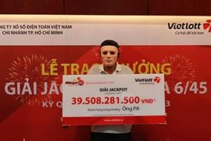 Người đàn ông trúng Jackpot 39,5 tỷ đồng chọn ngày đẹp mới lĩnh thưởng
