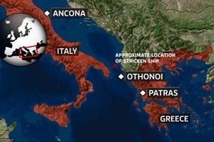 Hỏa hoạn trên tàu chở gần 500 người ở biển Hy Lạp