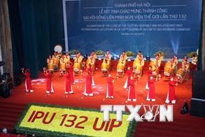 Míttinh chào mừng thành công Đại hội đồng IPU-132 tại Hà Nội