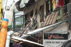 Vụ sập nhà ở Trần Hưng Đạo: Cảnh báo nguy hiểm ở 2 khối nhà còn lại