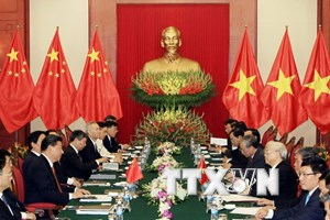 Tổng Bí thư hội đàm với Tổng Bí thư, Chủ tịch nước Trung Quốc