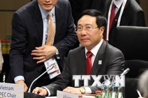 Bộ trưởng Ngoại giao Phạm Bình Minh gặp Ngoại trưởng Anh, Mỹ, Brazil
