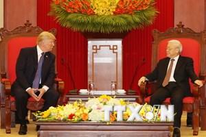 Tổng Bí thư Nguyễn Phú Trọng tiếp Tổng thống Hoa Kỳ Donald Trump