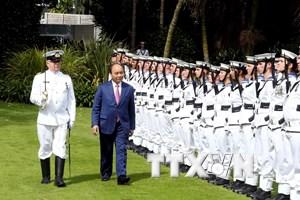 [Photo] Lễ đón Thủ tướng Nguyễn Xuân Phúc thăm chính thức New Zealand