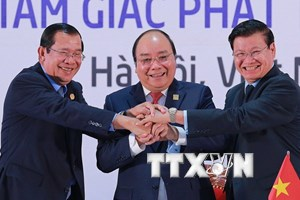 Thủ tướng Campuchia, Lào, Việt Nam chủ trì họp báo Hội nghị CLV10