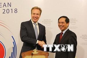 Cuộc họp lần thứ ba Ban Tổ chức Hội nghị WEF ASEAN năm 2018