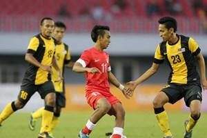 Cầm hòa Malaysia, U23 Singapore giành vé vào bán kết