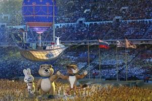 Chùm ảnh lễ bế mạc đậm màu sắc của Olympic Sochi