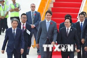 [Photo] Thủ tướng Canada Justin Trudeau tới Đà Nẵng dự APEC