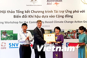 200.000 người dân được hưởng lợi từ các dự án về biến đổi khí hậu