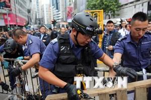 Cảnh sát Hong Kong bắt giữ 12 người biểu tình ủng hộ dân chủ