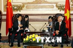 Lãnh đạo TP Hồ Chí Minh tiếp Bộ trưởng Bộ Công an Trung Quốc