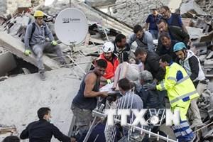 Italy dùng máy bay không người lái giám sát khu vực bị động đất