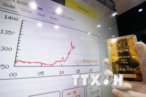 Giá vàng thế giới 'tụt không phanh' xuống mức đáy của một năm