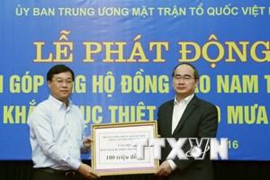 Trên 8 tỷ đồng ủng hộ đồng bào vùng mưa lũ ở Nam Trung Bộ