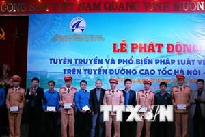 Đảm bảo an toàn giao thông trên tuyến cao tốc Hà Nội-Bắc Giang