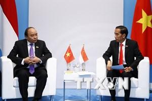 Thủ tướng gặp gỡ Tổng thống Indonesia, lãnh đạo EU và WHO
