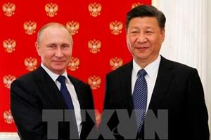 Tổng thống Nga gửi điện chúc mừng Chủ tịch Trung Quốc