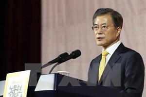 Tổng thống Moon hoài nghi về liên minh quân sự Mỹ-Nhật-Hàn