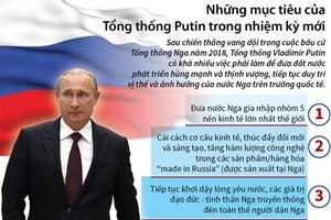[Infographics] Những mục tiêu của Tổng thống Putin nhiệm kỳ mới