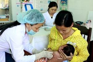 Tỷ lệ tiêm vét vắcxin sởi trên toàn quốc đạt gần 91%