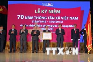 TTXVN kỷ niệm 70 năm thành lập và đón nhận Huân chương Độc lập
