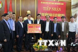 Quảng Nam tiếp nhận 6,3 tỷ đồng hỗ trợ đồng bào vùng lũ lụt