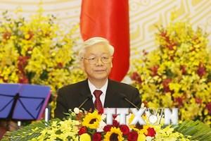 Lời chúc của Tổng Bí thư tại tiệc chiêu đãi Chủ tịch Trung Quốc
