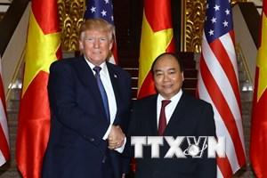Thủ tướng Nguyễn Xuân Phúc hội kiến Tổng thống Hoa Kỳ Donald Trump