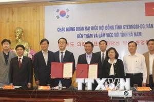 Hà Nam tăng cường hợp tác với tỉnh Gyeonggi-Do của Hàn Quốc