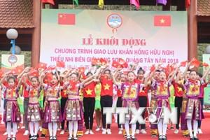 Giao lưu Khăn hồng hữu nghị thiếu nhi biên giới Lạng Sơn-Quảng Tây