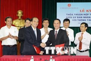 TTXVN và tỉnh Đắk Lắk ký kết thỏa thuận hợp tác thông tin