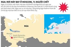 [Infographics] Nga: Rơi máy bay tại Moskva, 71 người thiệt mạng