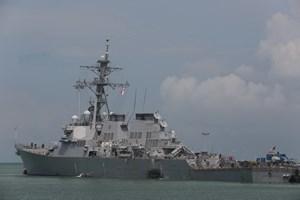 Nhật Bản tiếp liệu 17 lần cho tàu hải quân Mỹ giám sát Triều Tiên
