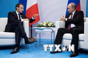Tổng thống Nga-Pháp ủng hộ duy trì thỏa thuận hạt nhân Iran