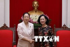 Bà Trương Thị Mai tiếp Đoàn nữ nghị sỹ Đảng Dân chủ Tự do Nhật Bản