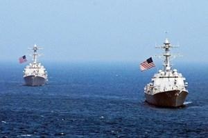 Tàu chiến Mỹ di chuyển gần đảo nhân tạo Trung Quốc trên Biển Đông