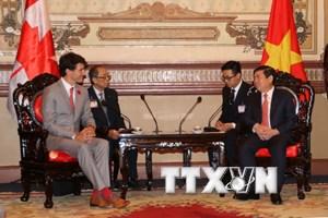 Lãnh đạo Thành phố Hồ Chí Minh tiếp Thủ tướng Canada Justin Trudeau
