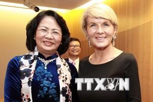 Phó Chủ tịch nước tiếp Bộ trưởng Ngoại giao Australia