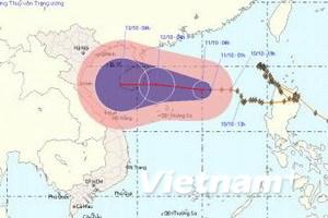 Bão số 10 sẽ suy yếu thành áp thấp nhiệt đới