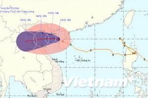 Bão số 10 áp sát bờ biển từ Quảng Ninh-Hà Tĩnh