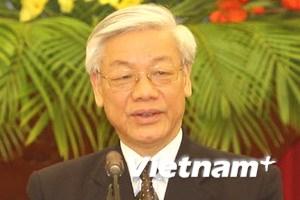 Lãnh đạo các nước gửi điện mừng tân Tổng Bí thư