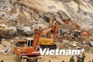 Đã tìm được xác 16 nạn nhân vụ sập mỏ đá Lèn Cờ