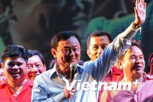 """Ông Thaksin phát biểu trước """"áo đỏ"""" ở Campuchia"""