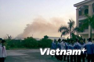 Dừng hoạt động nhà máy gần trường Quán Toan