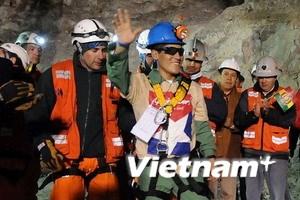 Giải cứu an toàn gần một nửa số thợ mỏ tại Chile