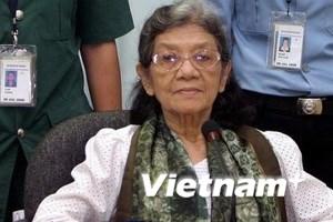 Tòa từ chối phóng thích nữ lãnh đạo của Khmer Đỏ