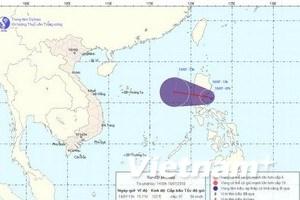 Đêm 18/7, áp thấp nhiệt đới có thể vào biển Đông