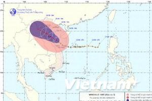 Tâm bão cách bờ biển Hà Tĩnh-Quảng Bình 120km